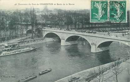 """/ CPA FRANCE 94 """"Panorama du pont de Charenton et bords de la marne"""""""