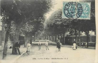 "/ CPA FRANCE 94 ""Le Parc Saint Maur, av Blanche"""
