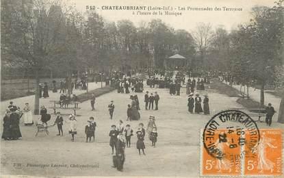 "/ CPA FRANCE 44 ""Châteaubriant, les promenades des Terrasses"""