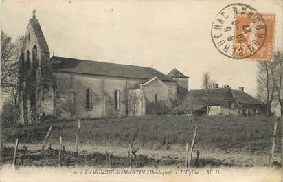 "/ CPA FRANCE 24 ""Lamonzie Saint Martin, l'église"""