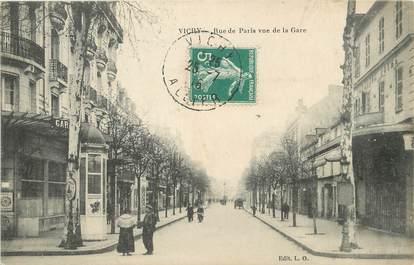 """/ CPA FRANCE 03 """"Vichy, rue de Paris vue de la gare"""""""