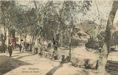 """CPA FRANCE 06 """"Menton, Avenue de Sospel"""""""