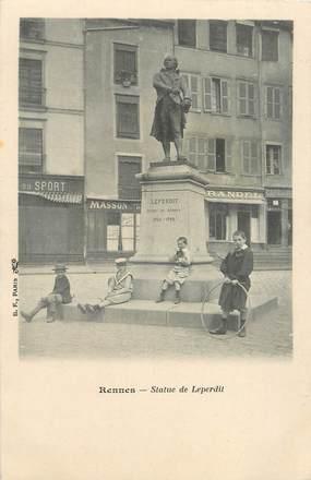 """/ CPA FRANCE 35 """"Rennes, statue de Leperdit"""""""