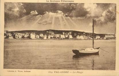 """/ CPA FRANCE 22 """"Val André, la plage"""""""