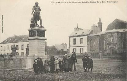 """/ CPA FRANCE 29 """"Carhaix, le champ de bataille, statue de la tour d'Auvergne"""""""