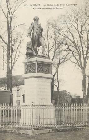 """/ CPA FRANCE 29 """"Carhaix, la statue de la tour d'Auvergne"""""""