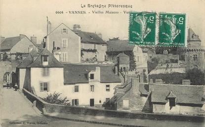 """/ CPA FRANCE 56 """"Vannes, vieilles maisons"""""""
