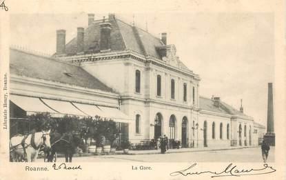 """/ CPA FRANCE 42 """"Roanne, la gare"""""""