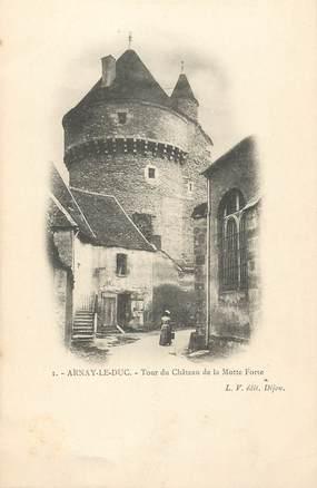 """/ CPA FRANCE 21 """"Arnay Le Duc, tour du château de la Motte Forte"""""""