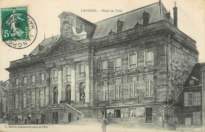 "/ CPA FRANCE 52 ""Langres, hôtel de ville"""