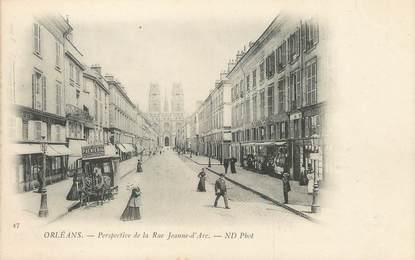 """/ CPA FRANCE 45 """"Orléans, perspective de la rue Jeanne d'Arc"""""""