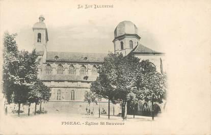 "/ CPA FRANCE 46 ""Figeac, église Saint Sauveur """
