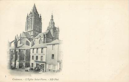 "/ CPA FRANCE 50 ""Coutances, l'église Saint Pierre"""