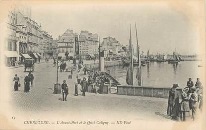 """/ CPA FRANCE 50 """"Cherbourg, l'avant port et le  quai Caligny"""""""