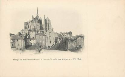 """/ CPA FRANCE 50 """"Abbaye du Mont Saint Michel, vue à l'Est prise des remparts"""""""