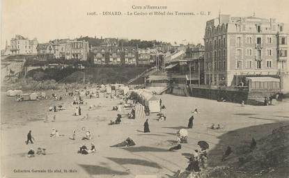 """/ CPA FRANCE 35 """"Dinard, le casino et hôtel des terrasses"""""""
