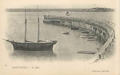 "/ CPA FRANCE 35 ""Saint Malo, le Môle """