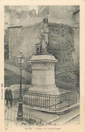 """/ CPA FRANCE 41 """"Blois, statue de Denis Papin """""""