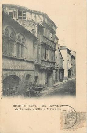 "/ CPA FRANCE 42 ""Charlieu, rue Chevroterie """