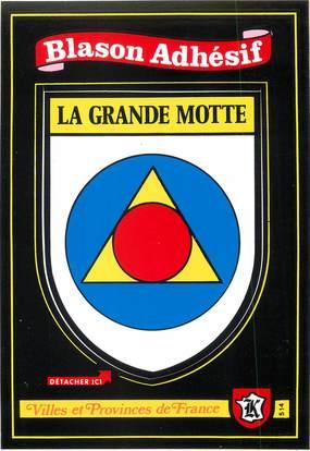 "/ CPSM FRANCE 34 ""La Grande Motte"" / BLASON ADHESIF"