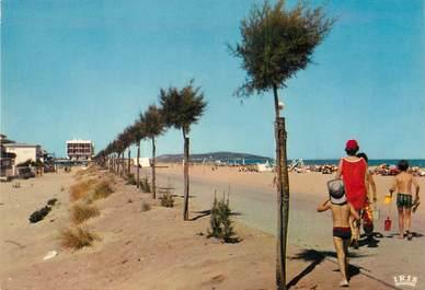 "/ CPSM FRANCE 34 ""Marseillan plage, la promenade et la plage"""