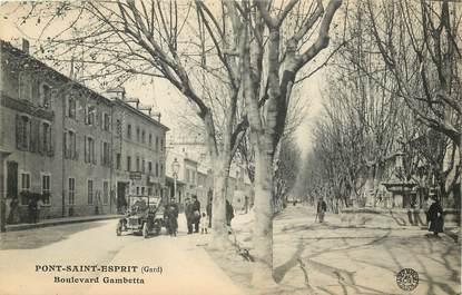 "CPA FRANCE 30 ""Pont Saint Esprit, Bld Gambetta"""