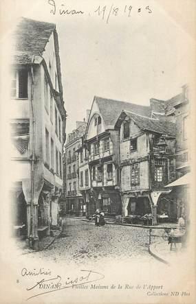 """/ CPA FRANCE 22 """"Dinan, vieilles maisons de la rue de l'Apport"""""""