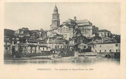 """/ CPA FRANCE 24 """"Périgueux, vue générale de Saint Front en 1850"""""""