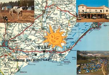 "/ CPSM FRANCE 34 ""Vias, camping Gai Soleil"""
