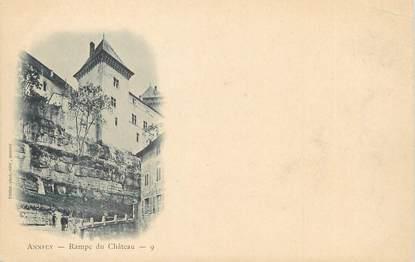 """/ CPA FRANCE 74 """"Annecy, rampe du château"""""""
