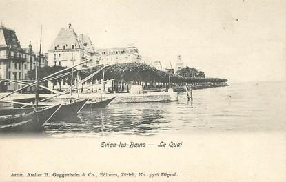 """/ CPA FRANCE 74 """"Evian Les Bains, le quai"""""""