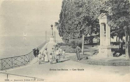 """/ CPA FRANCE 74 """"Evian Les Bains, les quais"""""""