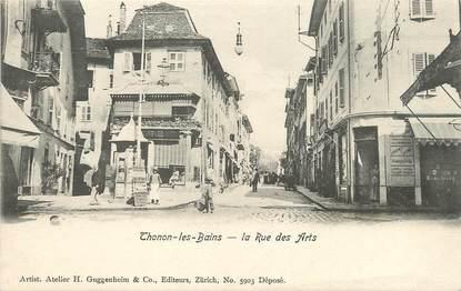 """/ CPA FRANCE 74 """"Thonon les Bains, la rue des Arts"""""""