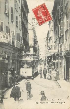 """CPA FRANCE 83 """"Toulon, Rue d'Alger"""""""