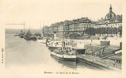 """/ CPA FRANCE 76 """"Rouen, le quai de la bourse """""""