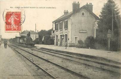 "CPA FRANCE 44 ""Saint Mars la Jaille, la gare"" / TRAIN"