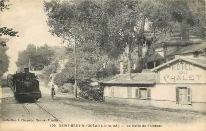 "CPA FRANCE 44 ""Saint Brévin l'Océan, la gare"" / TRAIN"