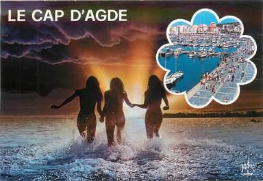"""CPSM NU /  NATURISME """"Le Cap d'Agde"""""""