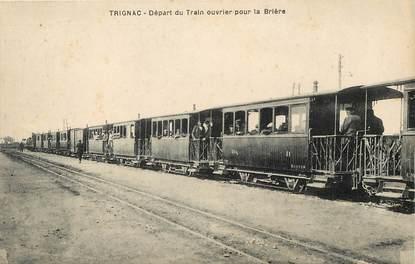 """CPA FRANCE 44 """"Trignac, la gare"""" / TRAIN"""