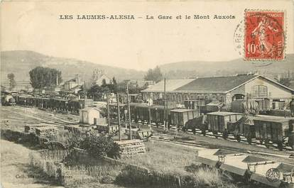 """CPA FRANCE 21 """"Les Laumes Alesia, la gare et le Mont Auxois"""""""
