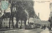 """21 Cote D'or CPA FRANCE 21 """"Chatillon sur Seine, la sous préfecture, tramway"""""""