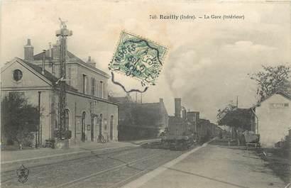 """CPA FRANCE 36 """"Reuilly, la gare"""" / TRAIN"""