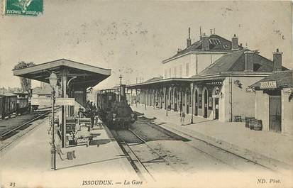 """CPA FRANCE 36 """"Issoudun, la gare"""" / TRAIN"""