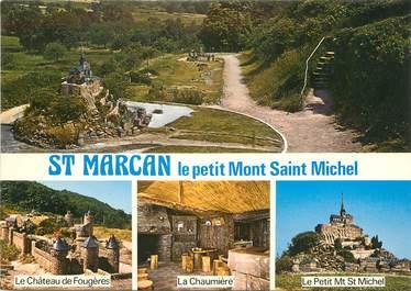 """/ CPSM FRANCE 35 """"Saint Marcan, le petit pont Saint Michel"""""""