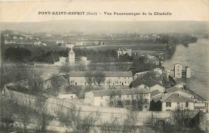 """CPA FRANCE 30 """"Pont Saint Esprit, vue panoramique de la citadelle"""""""