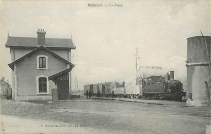 "CPA FRANCE 36 ""Bélabre"" / TRAIN"