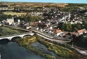 """37 Indre Et Loire / CPSM FRANCE 37 'Bléré, le pont sur le cher et vue d'ensemble"""""""