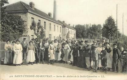 """CPA FRANCE 76 """"Saint Etienne du Rouvray, sortie des ateliers de la Société cotonnière"""""""