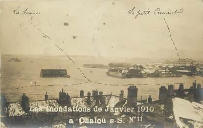 "CARTE PHOTO FRANCE 71 ""Inondations 1910, Chalon sur Saone"""