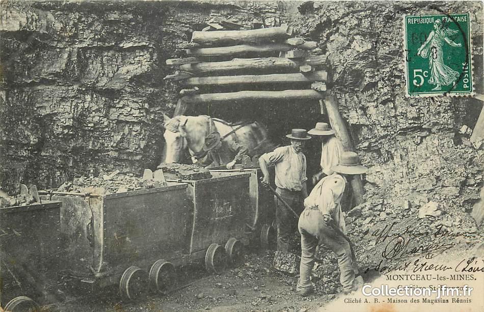 cpa france 71 montceau les mines carri re saint fran ois 71 sa ne et loire montceau les. Black Bedroom Furniture Sets. Home Design Ideas